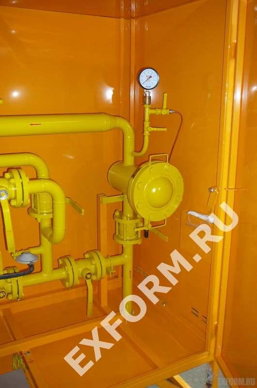 Газорегуляторный шкафной пункт типа ГСГО-МВ-25 на базе РДБК-1-25