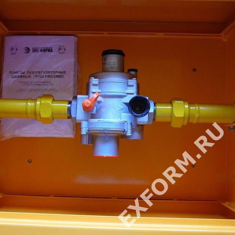 Домовой газорегуляторный пункт ДРП2 с регулятором ARD-10/RF-25 на опоре