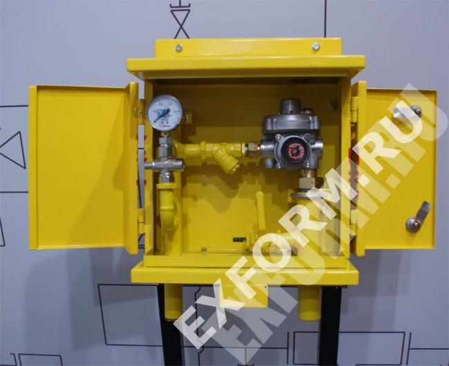 Домовой газорегуляторный пункт ДРП3 (ДРП-3) с регулятором FES